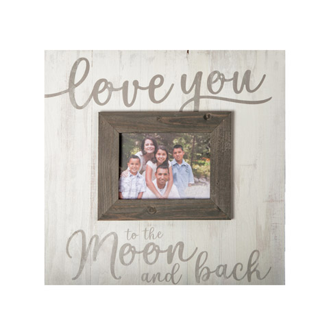 Pine \'Love You To The Moon and Back\' Picture Frame - Picture Frames ...