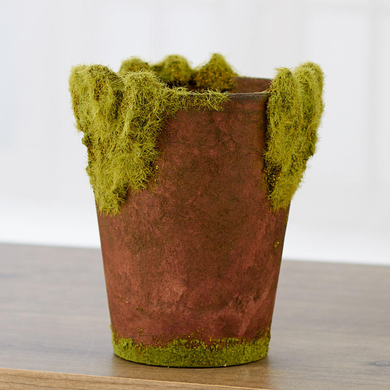 Moss Covered Flower Pot Vase And Bowl Fillers Home Decor
