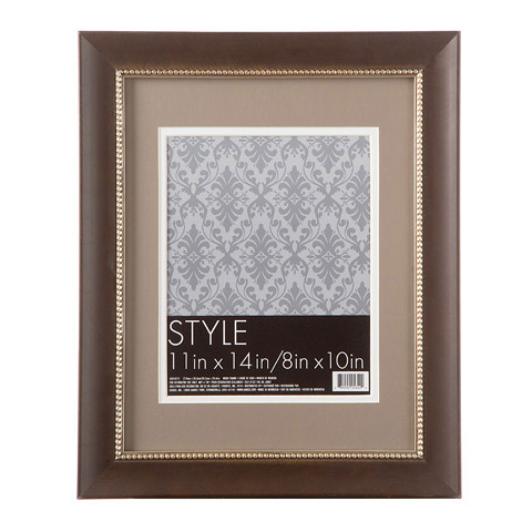 Beaded Wood Double Matted Picture Frame Picture Frames