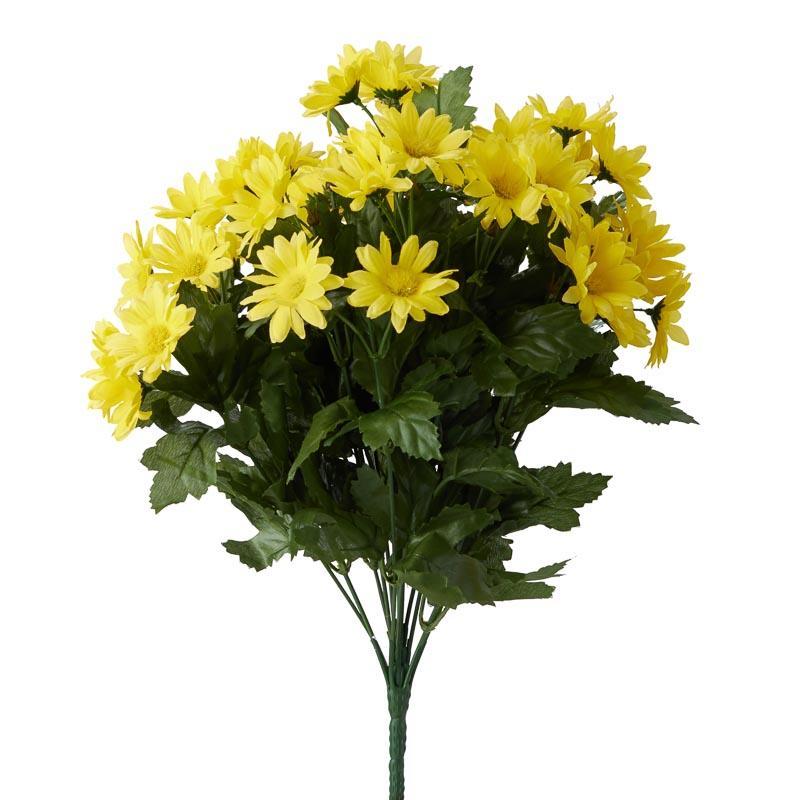 Yellow Artificial Daisy Bush Bushes Bouquets Floral