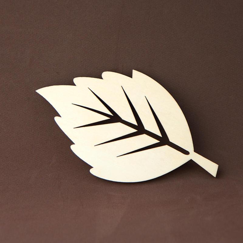 Unfinished Wood Leaf Cutout