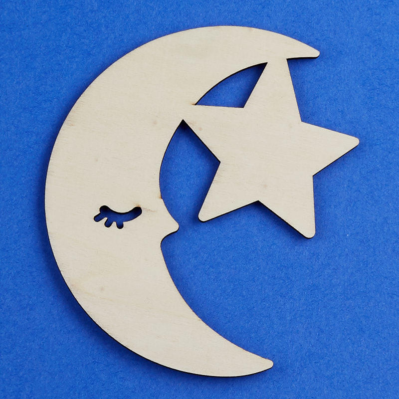 Shooting Star Comet Wood Cutout Shape Silhouette Blank Unpainted Sign 14 inch thick