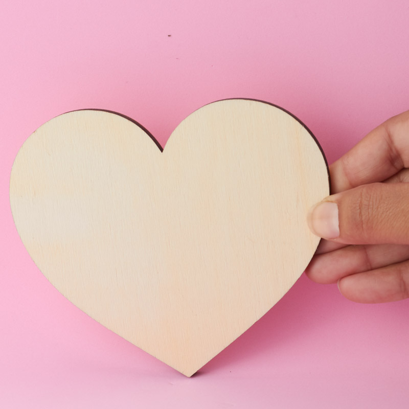 how to cut a heart out of wood