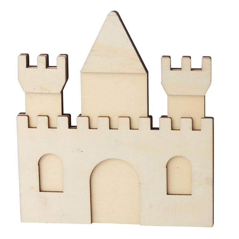Unfinished Wood Castle Cutout
