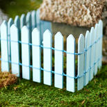 Blue Wood Picket Fence