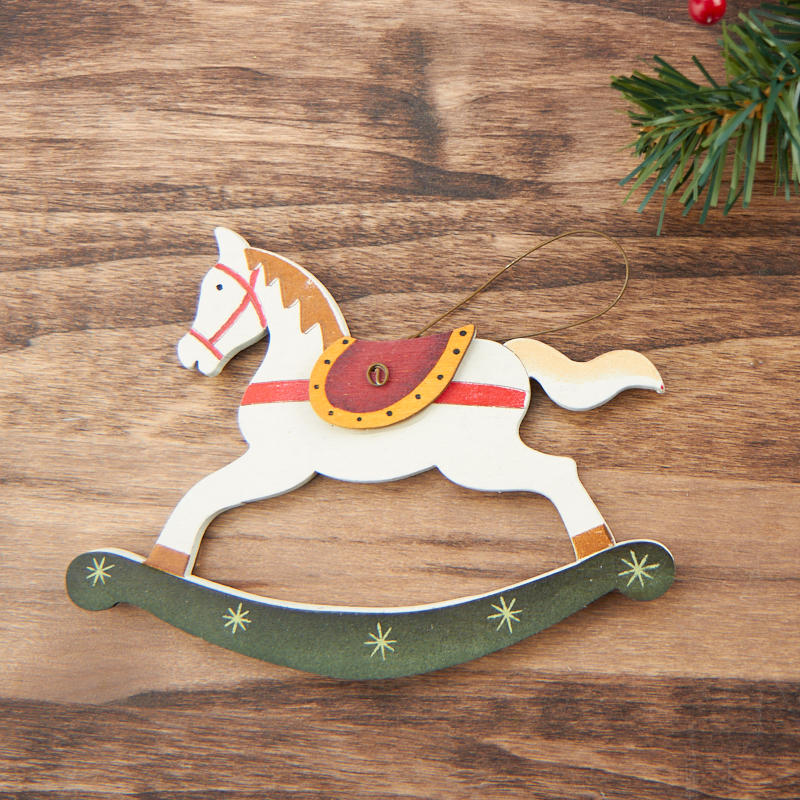 Primitive Rocking Horse Christmas Ornament Christmas Ornaments Christmas And Winter Holiday Crafts Factory Direct Craft