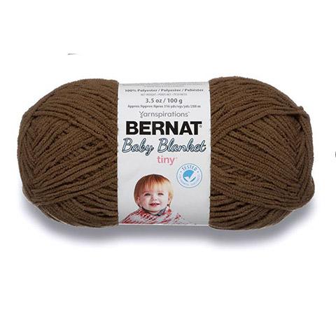 Bernat Baby Blanket Brown Bear Tiny Yarn