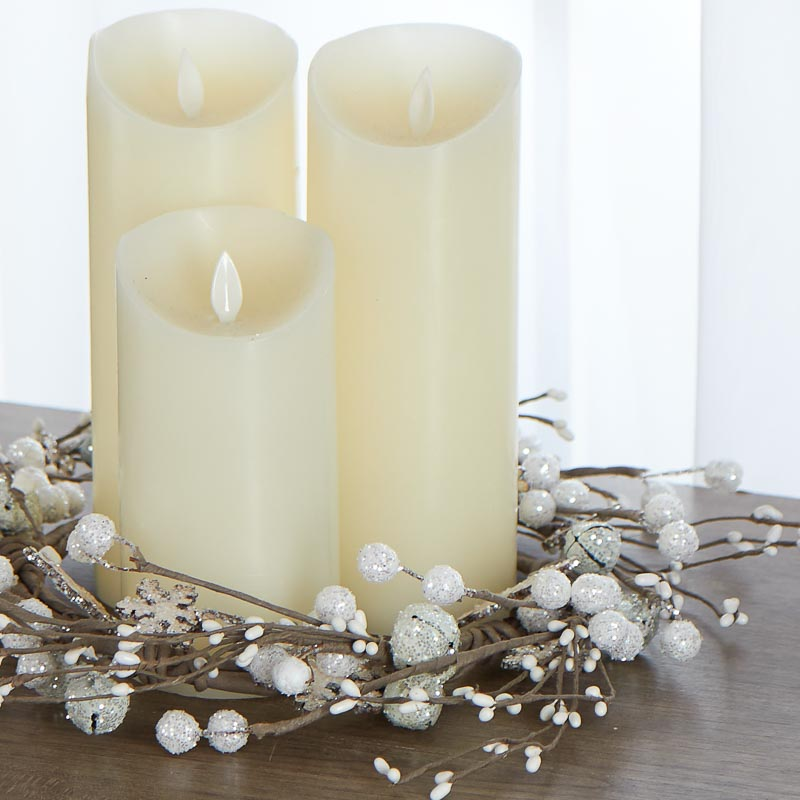 Glittered Jingle Bell and Snowflake Candle Ring