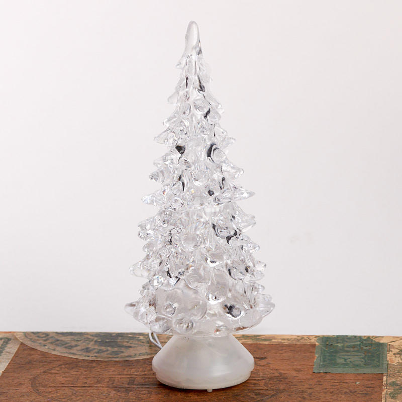 Miniature Acrylic Christmas Tree with Color Change LED ...