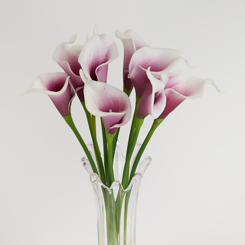 Natural Touch Purple And White Calla Lily Bouquet Bushes