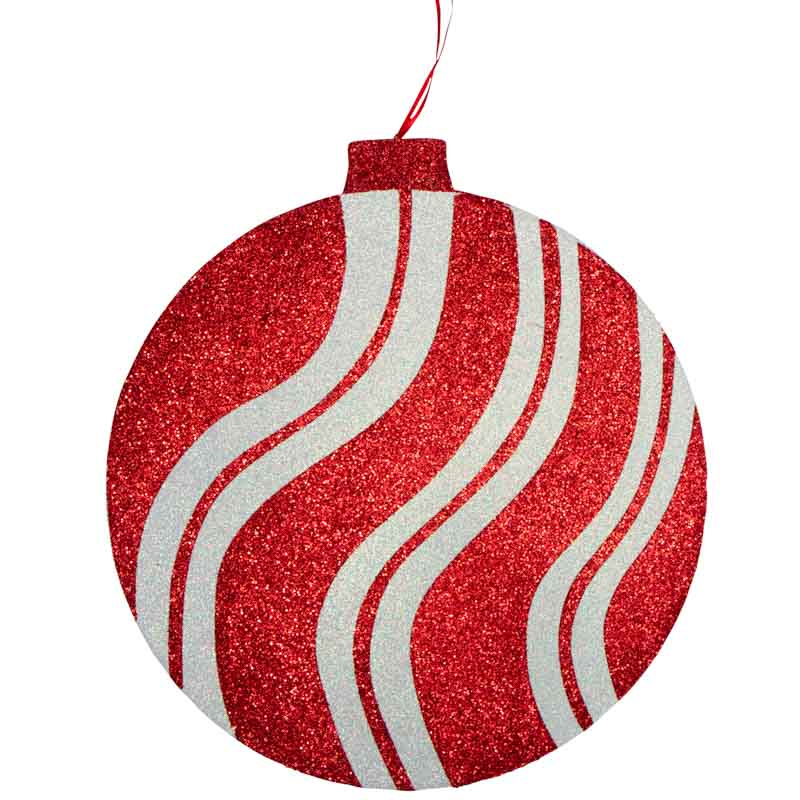 Jumbo Styrofoam Red and White Striped Ornament - Christmas ...