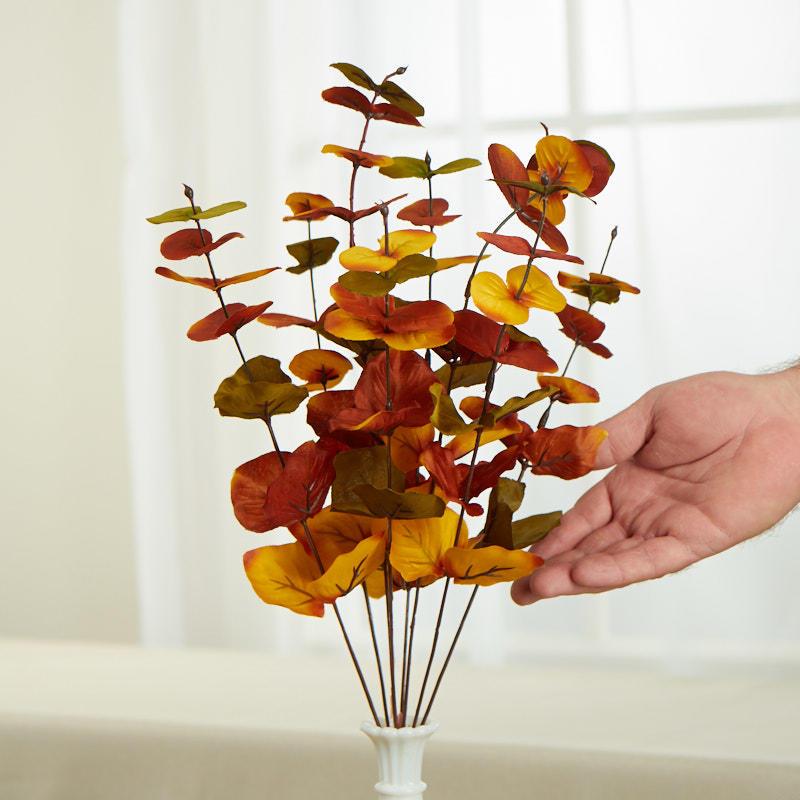 Factory Direct Craft Fall Artificial Eucalyptus Bush