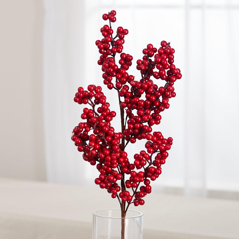 Red Artificial Berry Cluster Spray Picks Sprays Floral Supplies Craft Supplies Factory Direct Craft