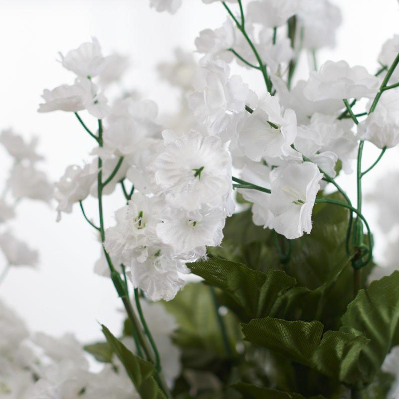White Artificial Baby S Breath Bush Bushes Bouquets
