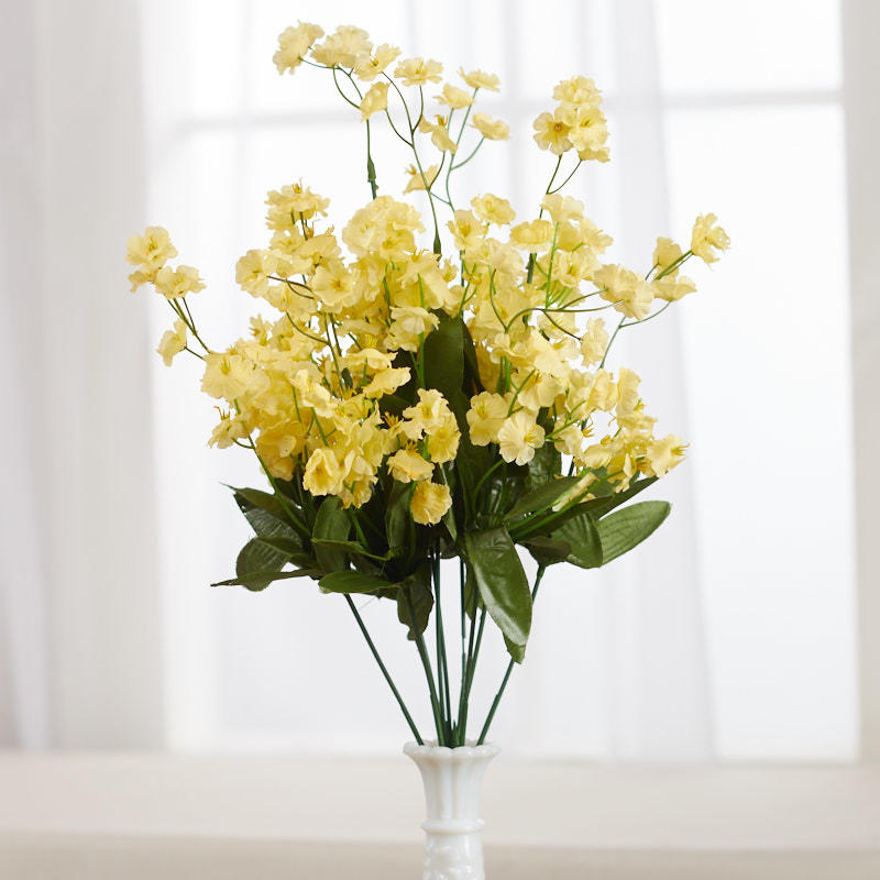 Yellow Artificial Baby S Breath Bush Bushes Bouquets