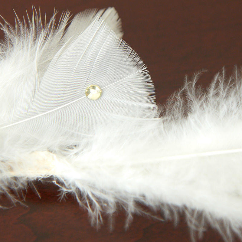 White Pearl And Rhinestone Feather Garland Christmas