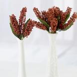 Copper Artificial Berry Cluster Picks