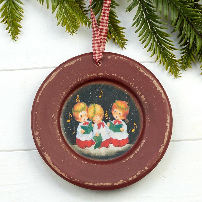 Caroling Children Decorative Plate