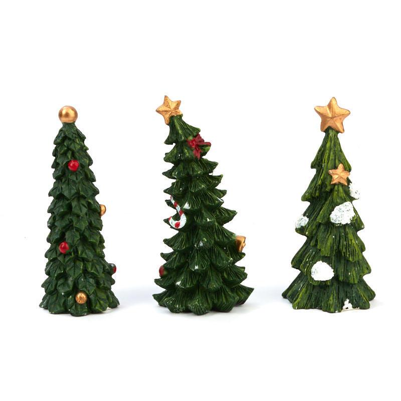 Mini Black Christmas Tree: Miniature Christmas Tree Figurine