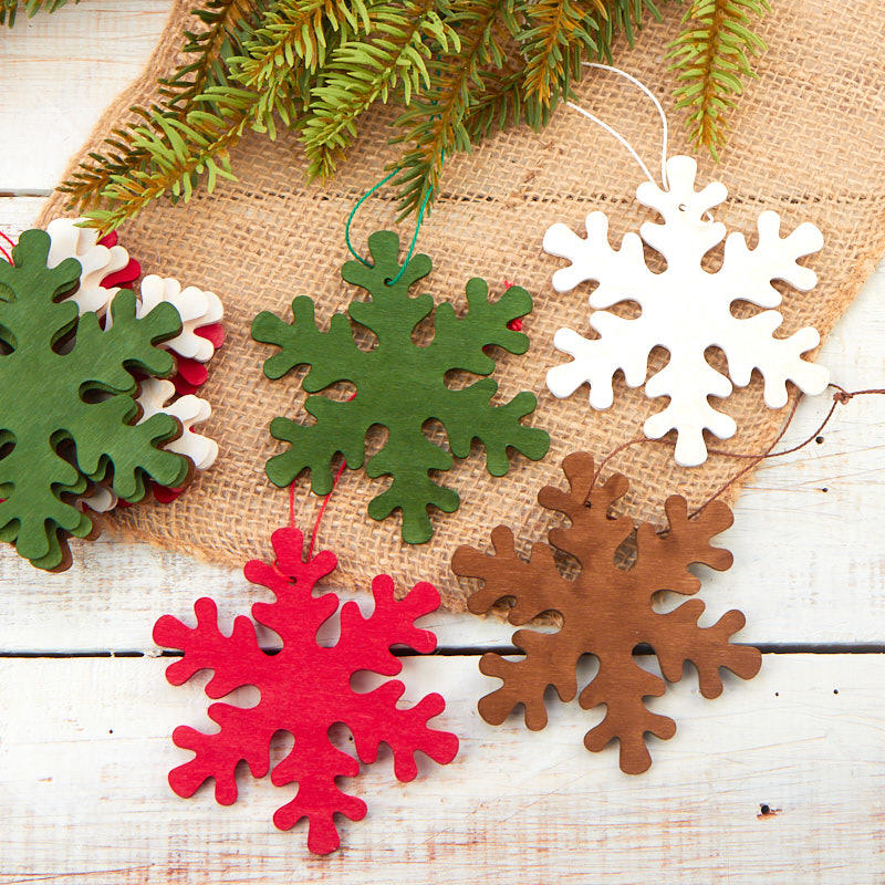 4 assorted snowflake christmas ornaments