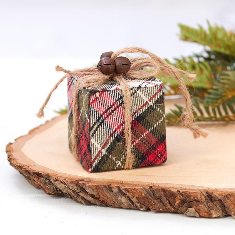 Plaid Gift Box Christmas Ornament - Christmas Ornaments ...