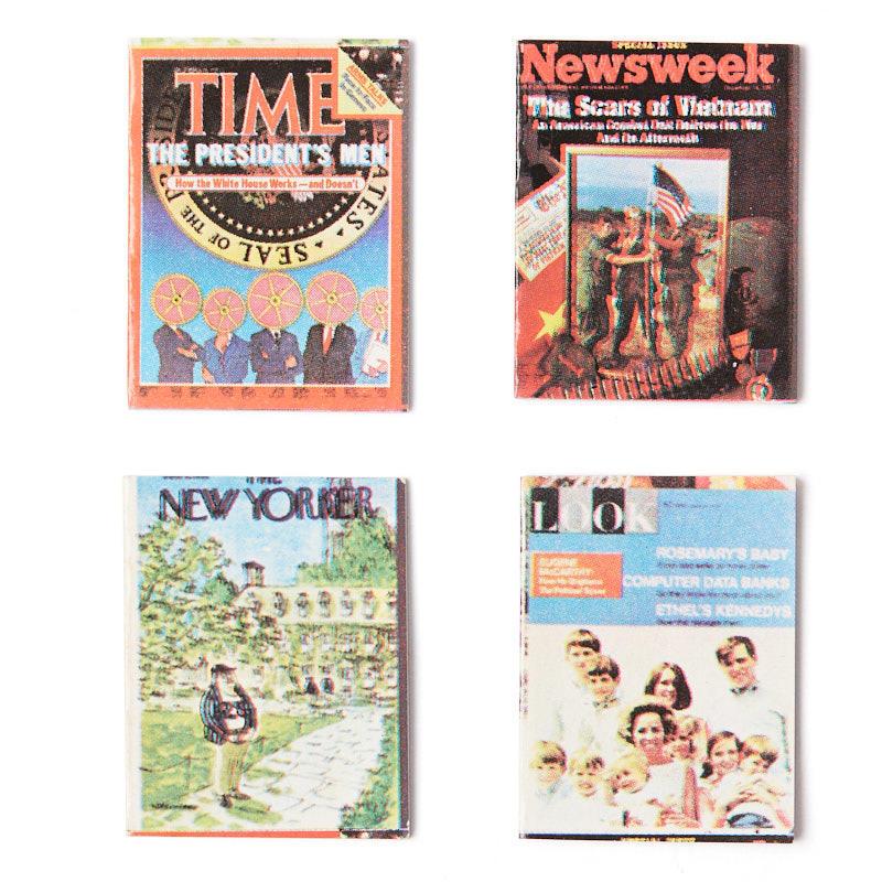 Dollhouse Miniature Magazine Set