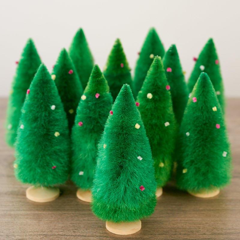 Mini Black Christmas Tree: Miniature Hemp Christmas Trees