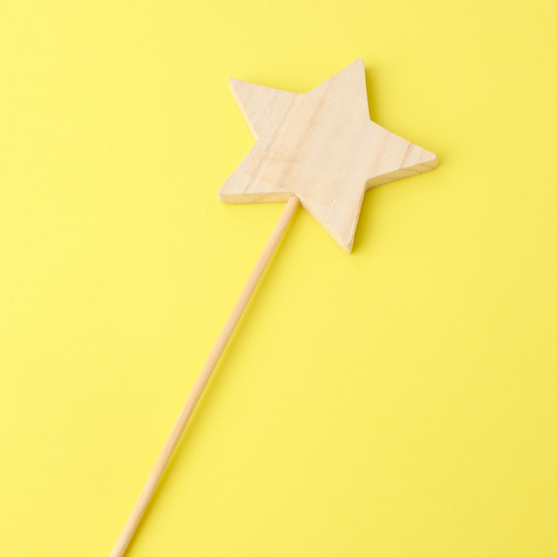 Paper Mache Dimensional Star Wands Package of 12