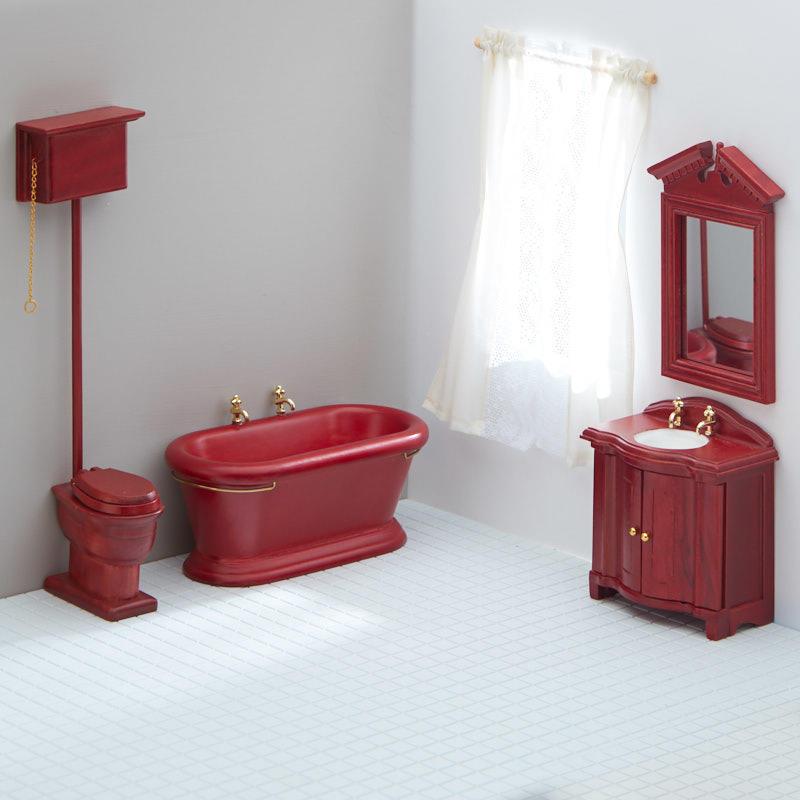 dollhouse miniature old fashioned bathroom set whats
