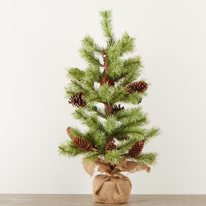 Artificial Pine Tree With Burlap Base Trees And Toppers Christmas And Winter Holiday Crafts Factory Direct Craft