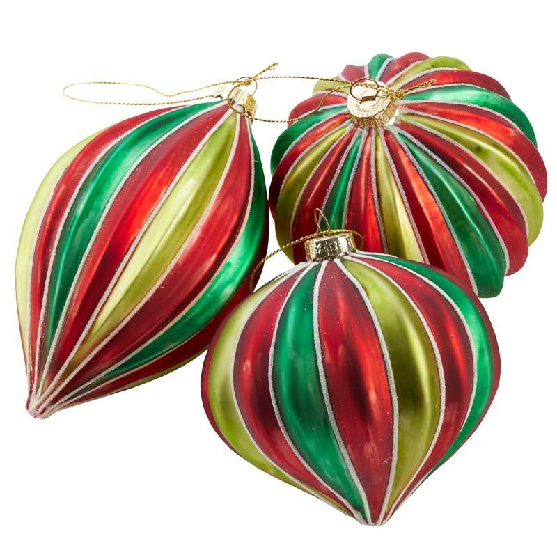 Red and Green Christmas Ornament Set - Christmas Ornaments ...