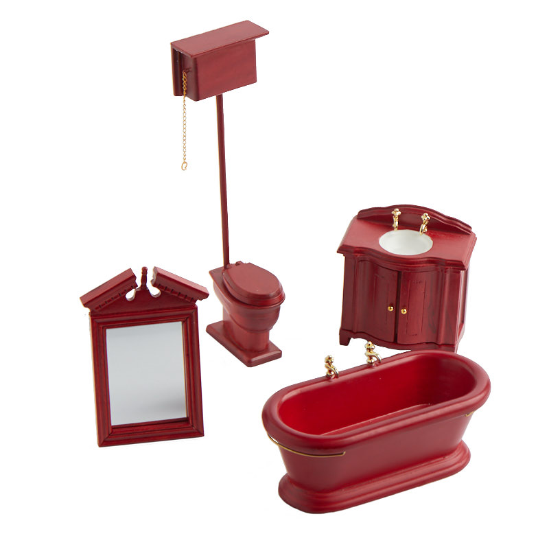 dollhouse miniature old fashioned bathroom set bathroom