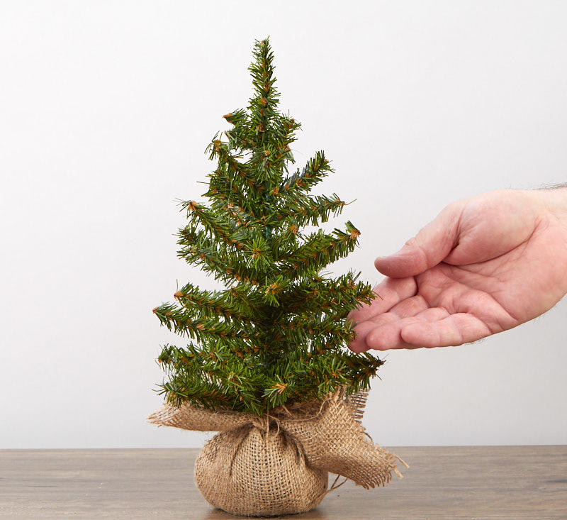 12 Quot Artificial Canadian Tree With Burlap Base Trees And