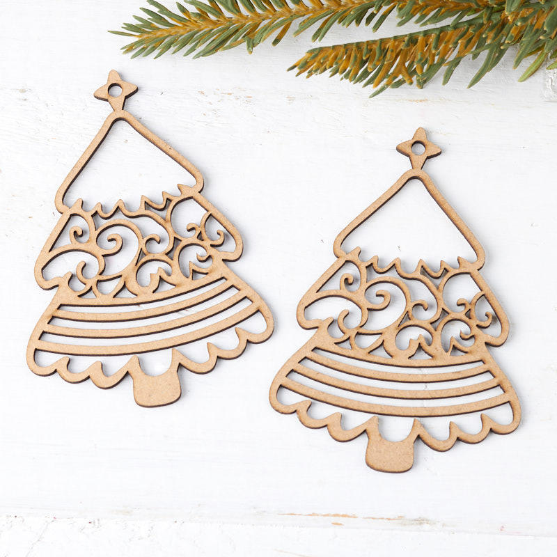 Laser Cut Christmas Tree Ornaments