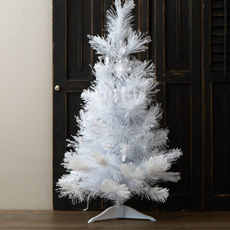 Where To Buy A Pre Lit Christmas Tree: Pre-lit White Iridescent Tabletop Christmas Tree