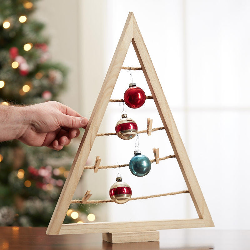 A Frame Christmas Tree Ornament Display Table Decor Christmas