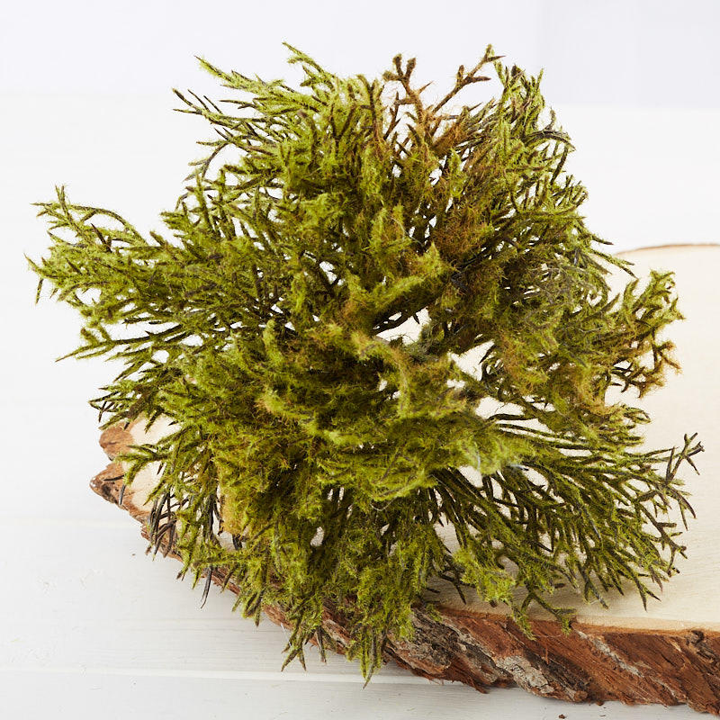Moss Green Artificial Juniper Pick