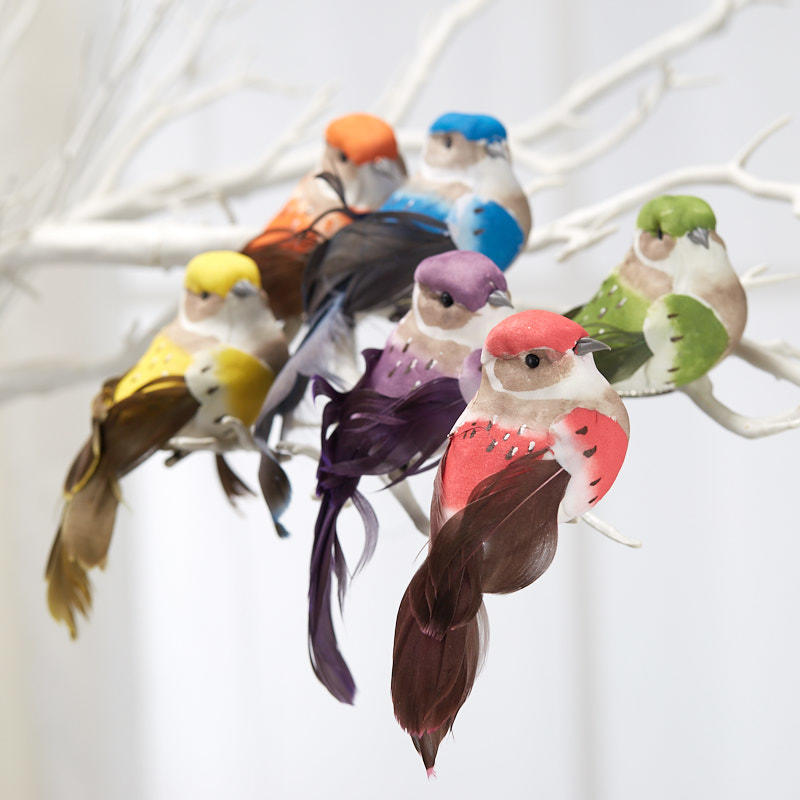 Factory Direct Craft Assorted Feathered Mushroom Birds