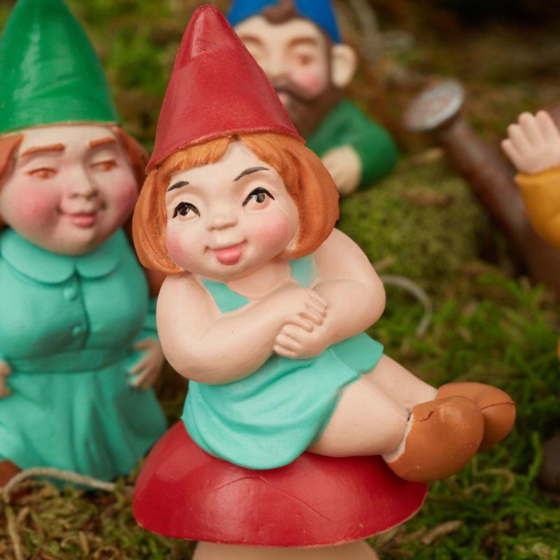Gnome In Garden: Miniature Garden Gnome Family