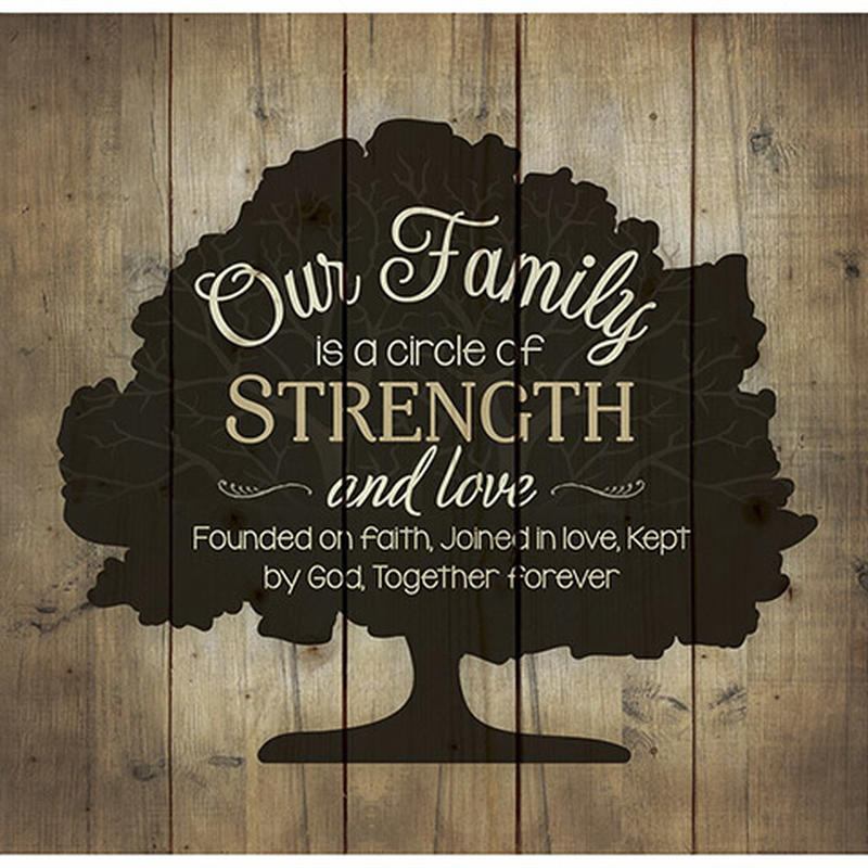 'Our Family...' Wall Plaque Pallet Art - Wall Decor - Home ...