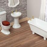 Dollhouse Miniature Ceramic Bathroom Set