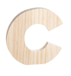 "Unfinished Wood Bold Letter ""C"""