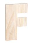 "Unfinished Wood Bold Letter ""F"""