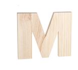 "Unfinished Wood Bold Letter ""M"""