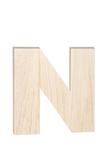 """Unfinished Wood Bold Letter """"N"""""""