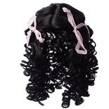 Antina's Black Loose Curls Doll Wig