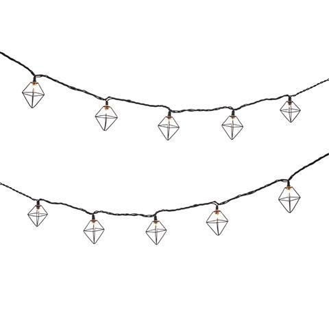 timeless design c0f51 e4c97 Diamond Cage Black Cord String Lights