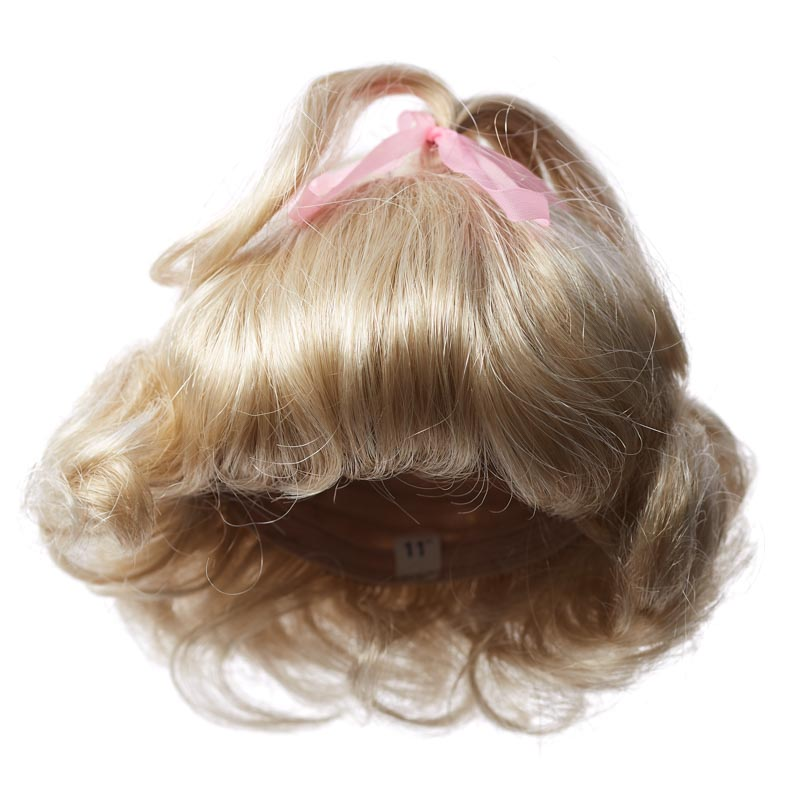 Factory Direct Craft Antina/'s Dark Blonde Ringlet-Straight Bang Wig3 Pieces