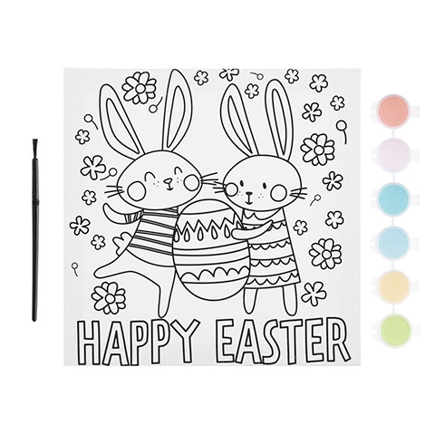 Ready To Decorate Happy Easter Canvas Painting Kit Activity Kits Kids Crafts Craft Supplies Factory Direct Craft