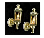 Dollhouse Miniature Brass Coach Lamps